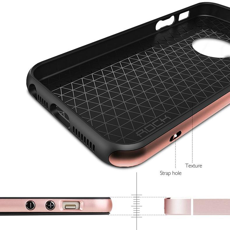 2017 ROCK iPhone SE Case, iPhone 5S Shockproof Case 7