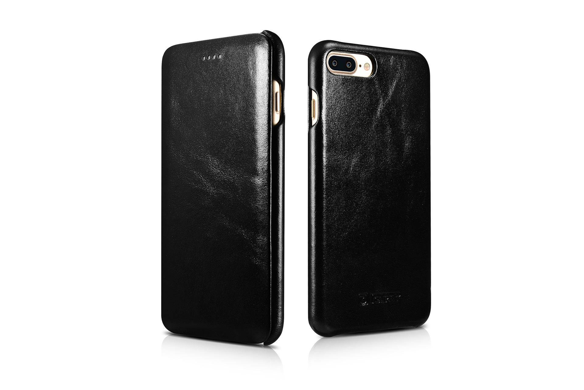 iCarer iPhone 7 Plus Curved Edge Vintage Series Genuine Leather Case 5