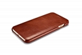 iCarer iPhone 7 Plus Curved Edge Vintage Series Genuine Leather Case 7
