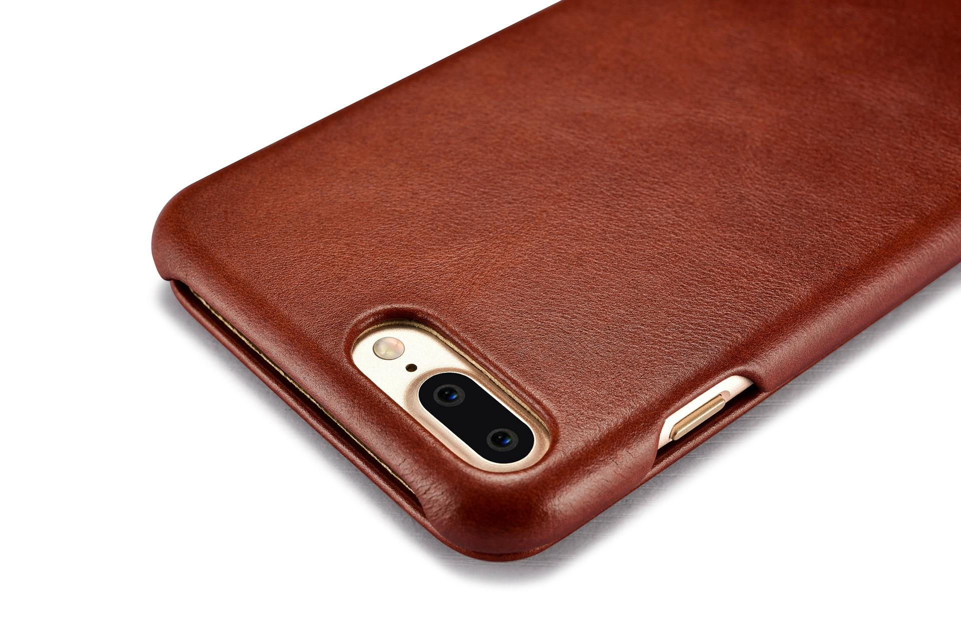 iCarer iPhone 7 Plus Curved Edge Vintage Series Genuine Leather Case 13