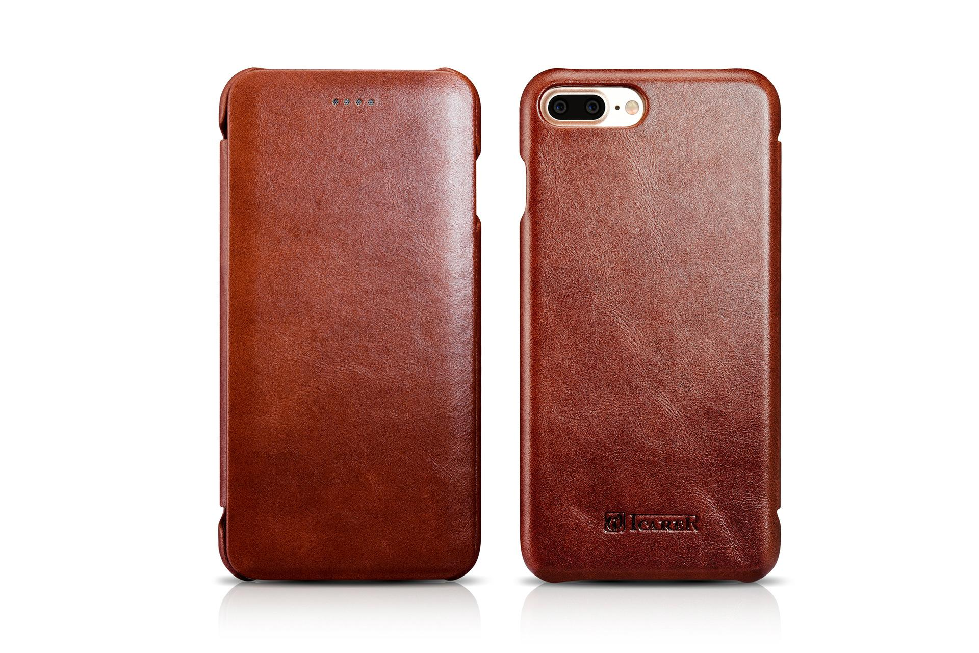 iCarer iPhone 7 Plus Curved Edge Vintage Series Genuine Leather Case 2
