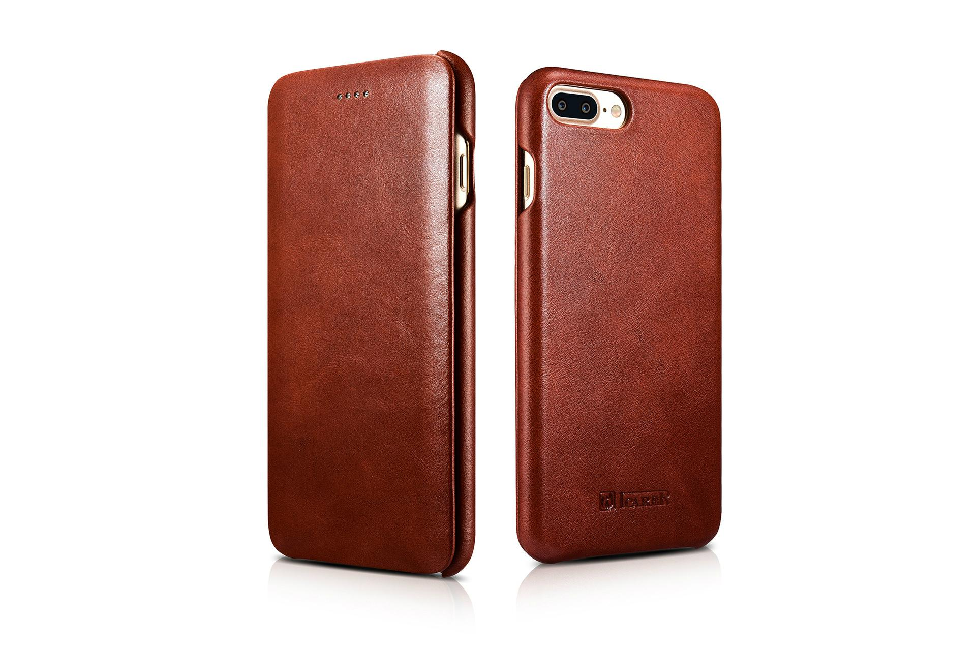 iCarer iPhone 7 Plus Curved Edge Vintage Series Genuine Leather Case 3