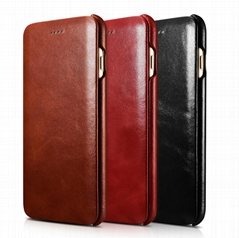 iCarer iPhone 7 Plus Curved Edge Vintage Series Genuine Leather Case (Hot Product - 1*)