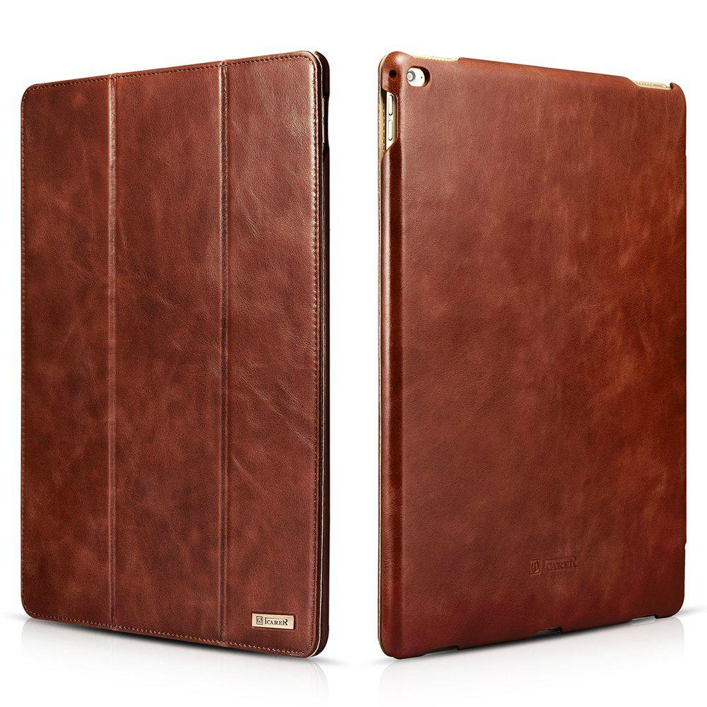 iCarer iPad Pro 12.9 inch Vintage Series With Triple Folded Leather Case 1