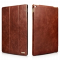 iCarer iPad Pro 12.9 inch Vintage Series With Triple Folded Leather Case
