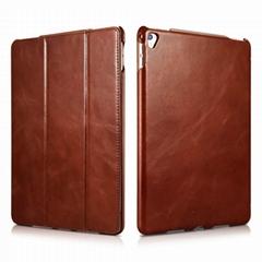 iCarer iPad Pro 9.7 inch Vintage Series Side Open Genuine Leather Case
