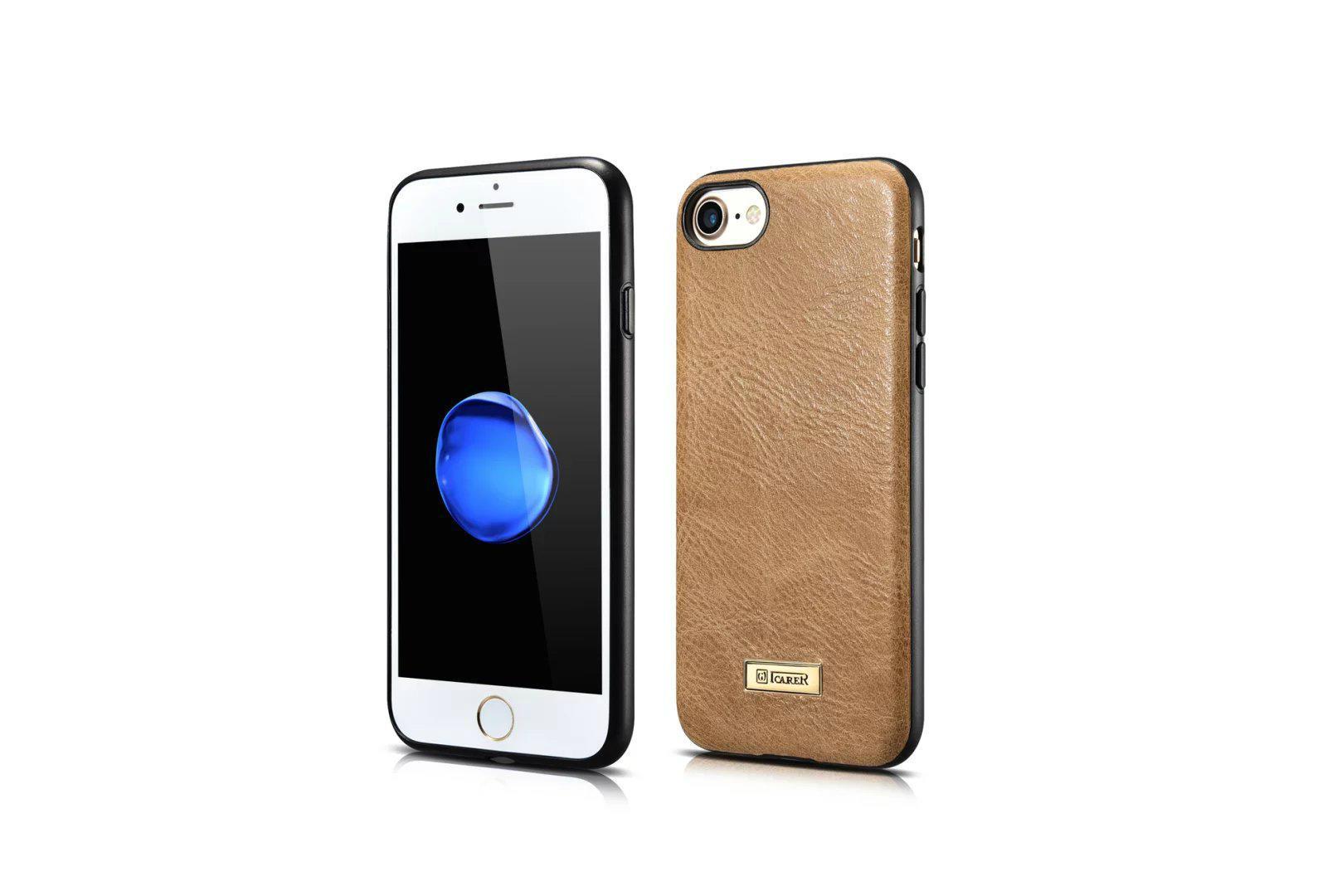 iCarer iPhone 7 Shenzhou Genuine Leather Fashional Back Cover Case 5