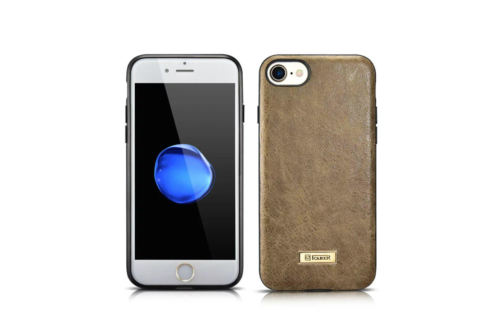 iCarer iPhone 7 Shenzhou Genuine Leather Fashional Back Cover Case 2