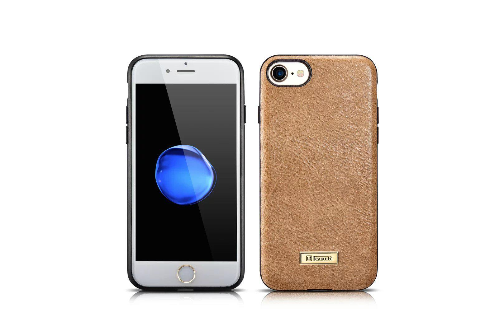 iCarer iPhone 7 Shenzhou Genuine Leather Fashional Back Cover Case 3