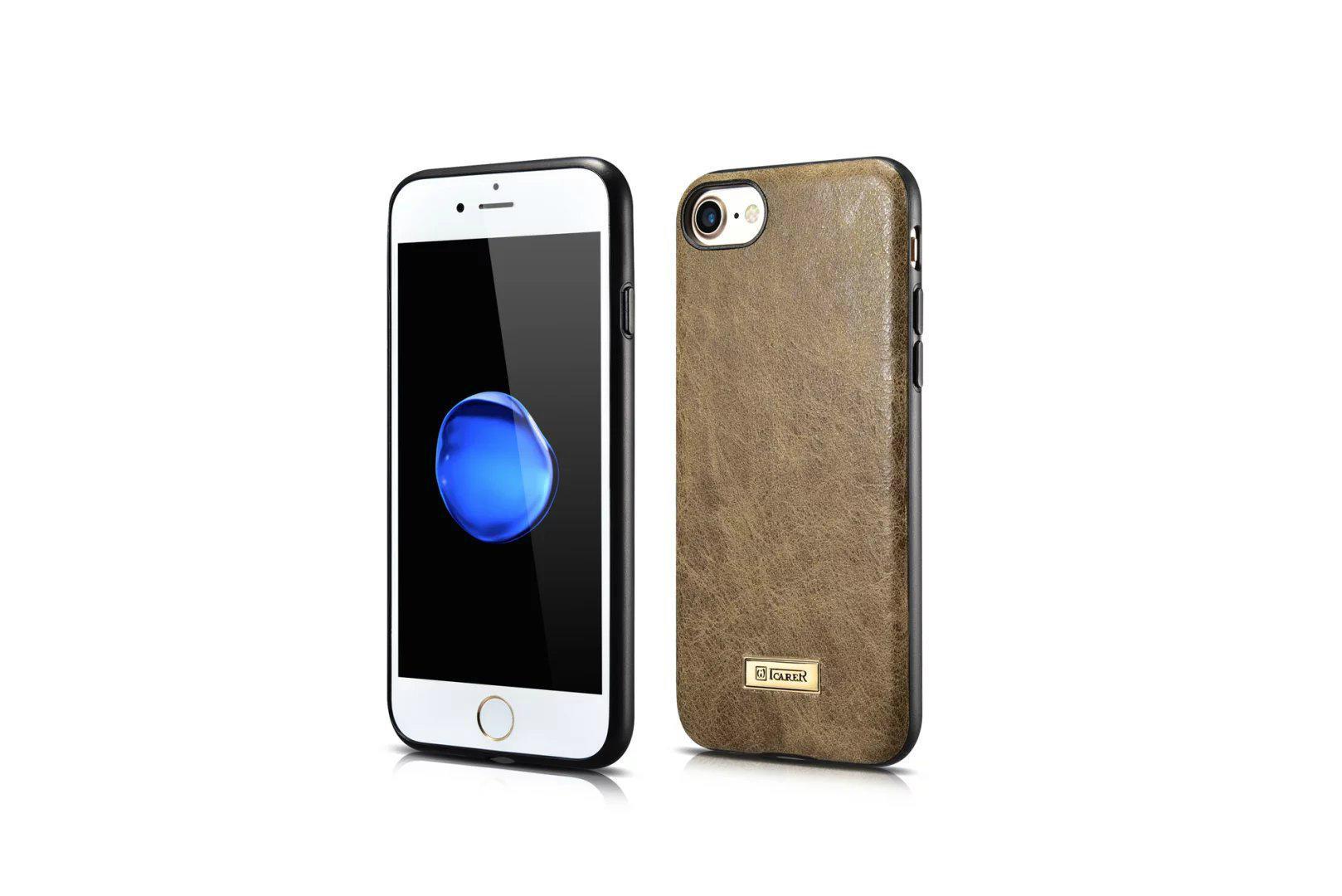 iCarer iPhone 7 Shenzhou Genuine Leather Fashional Back Cover Case 4