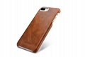 iCarer iPhone 7 Plus Metal Warrior Oil Wax Real Leather Back Case 9