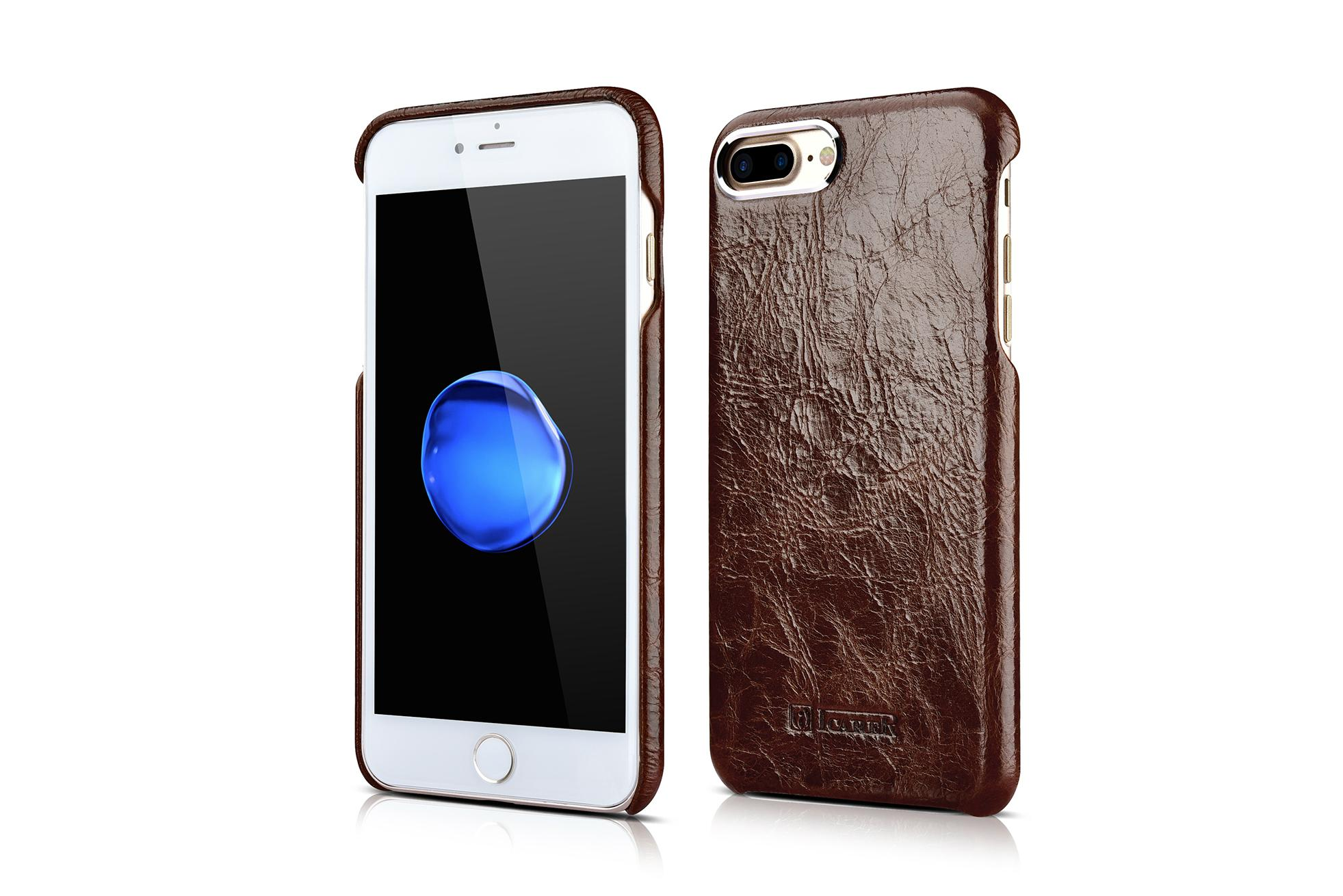 iCarer iPhone 7 Plus Metal Warrior Oil Wax Real Leather Back Case 2