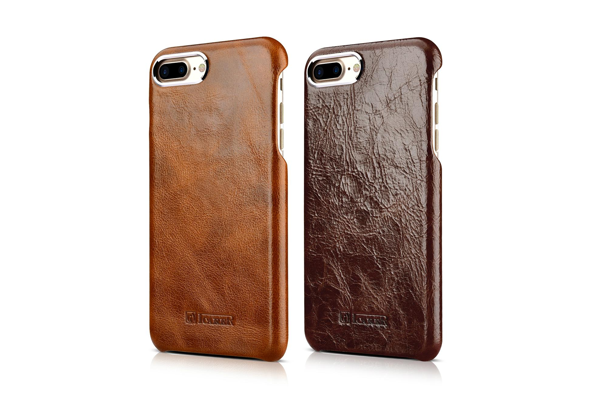 iCarer iPhone 7 Plus Metal Warrior Oil Wax Real Leather Back Case 16