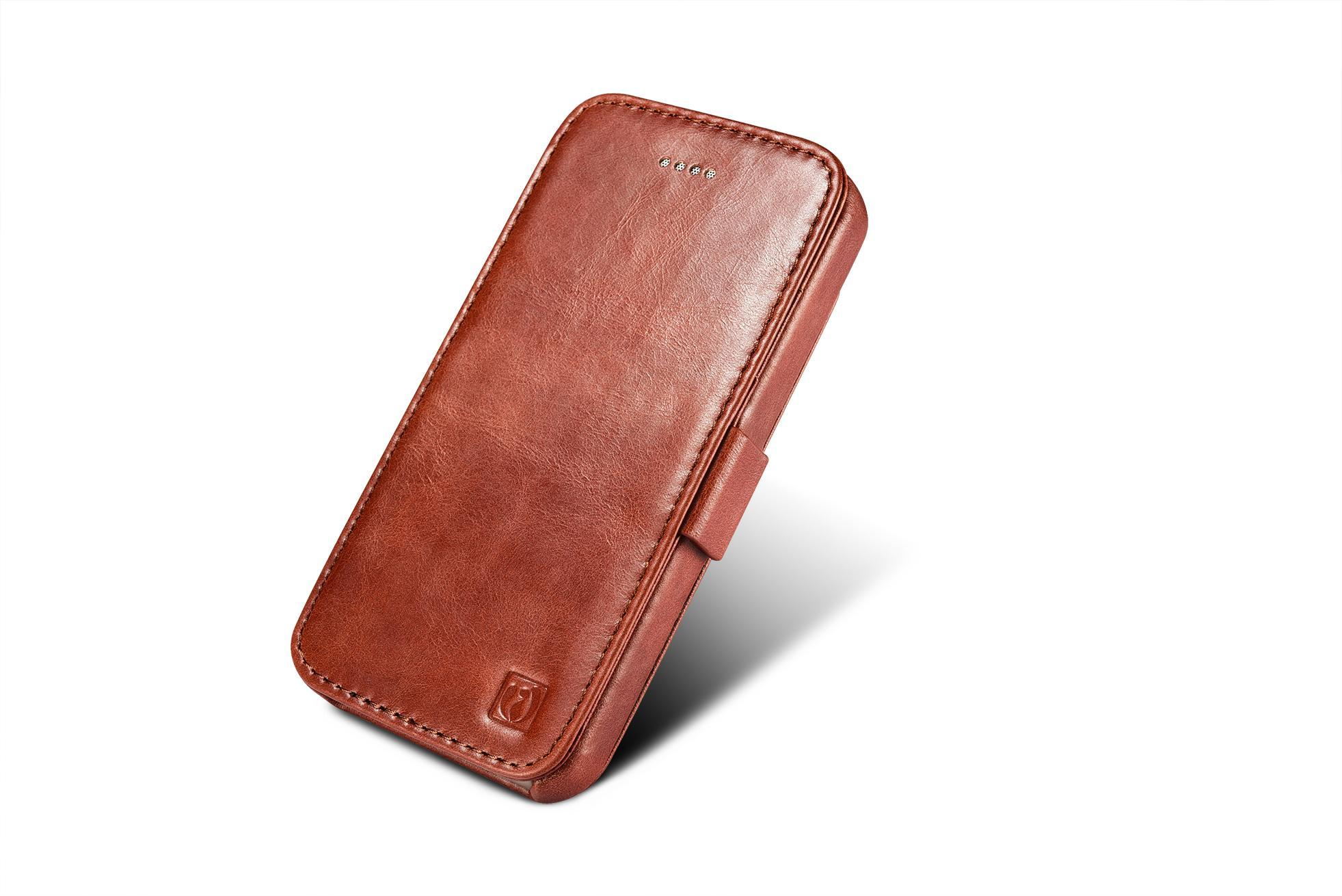 2017 iCarer iPhone SE/5S/5 Vintage Wallet Case with Two Credit Cards Slot Design 5