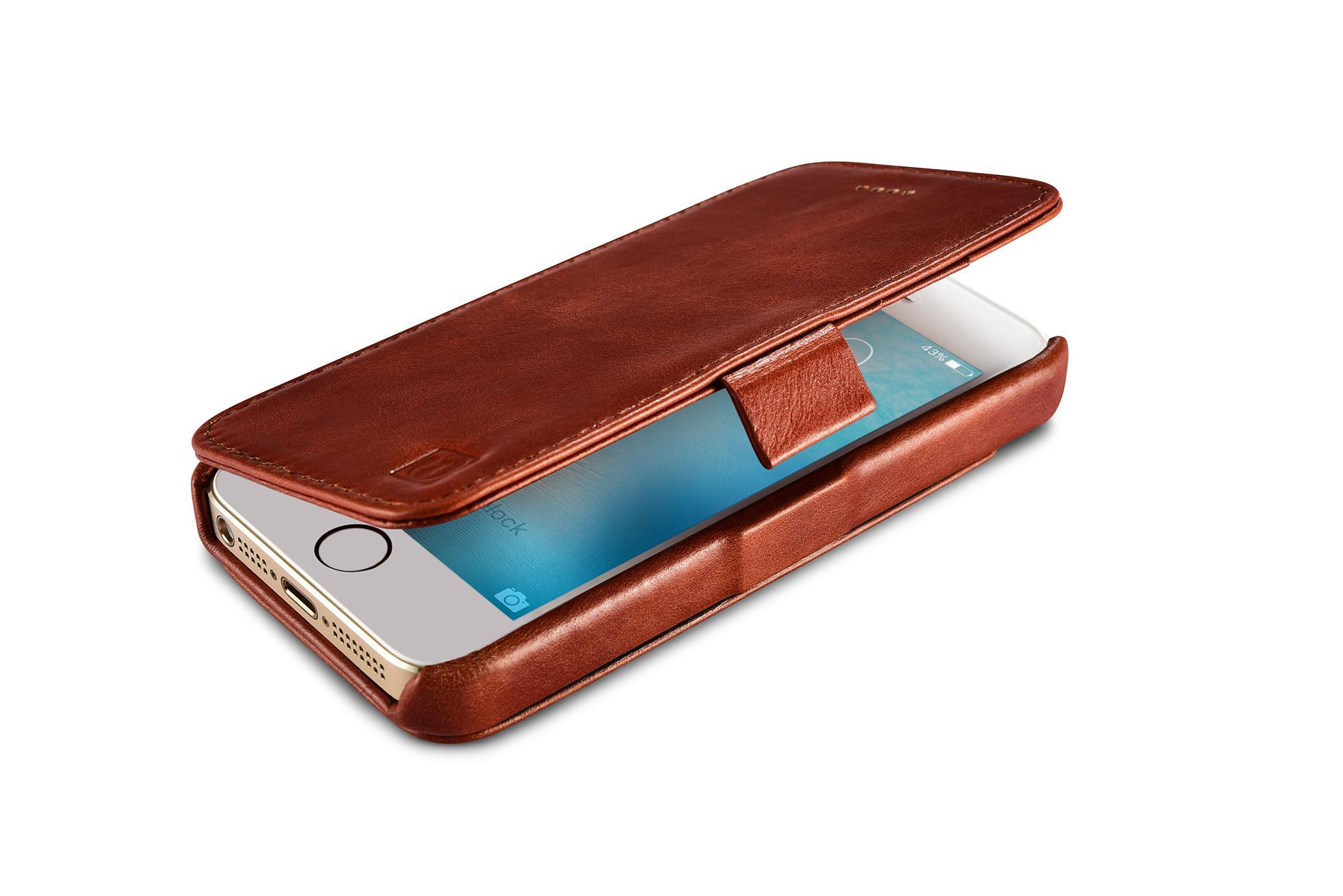 2017 iCarer iPhone SE/5S/5 Vintage Wallet Case with Two Credit Cards Slot Design 9