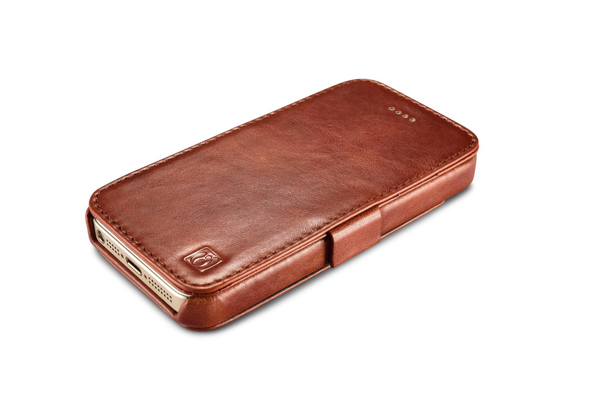 2017 iCarer iPhone SE/5S/5 Vintage Wallet Case with Two Credit Cards Slot Design 6