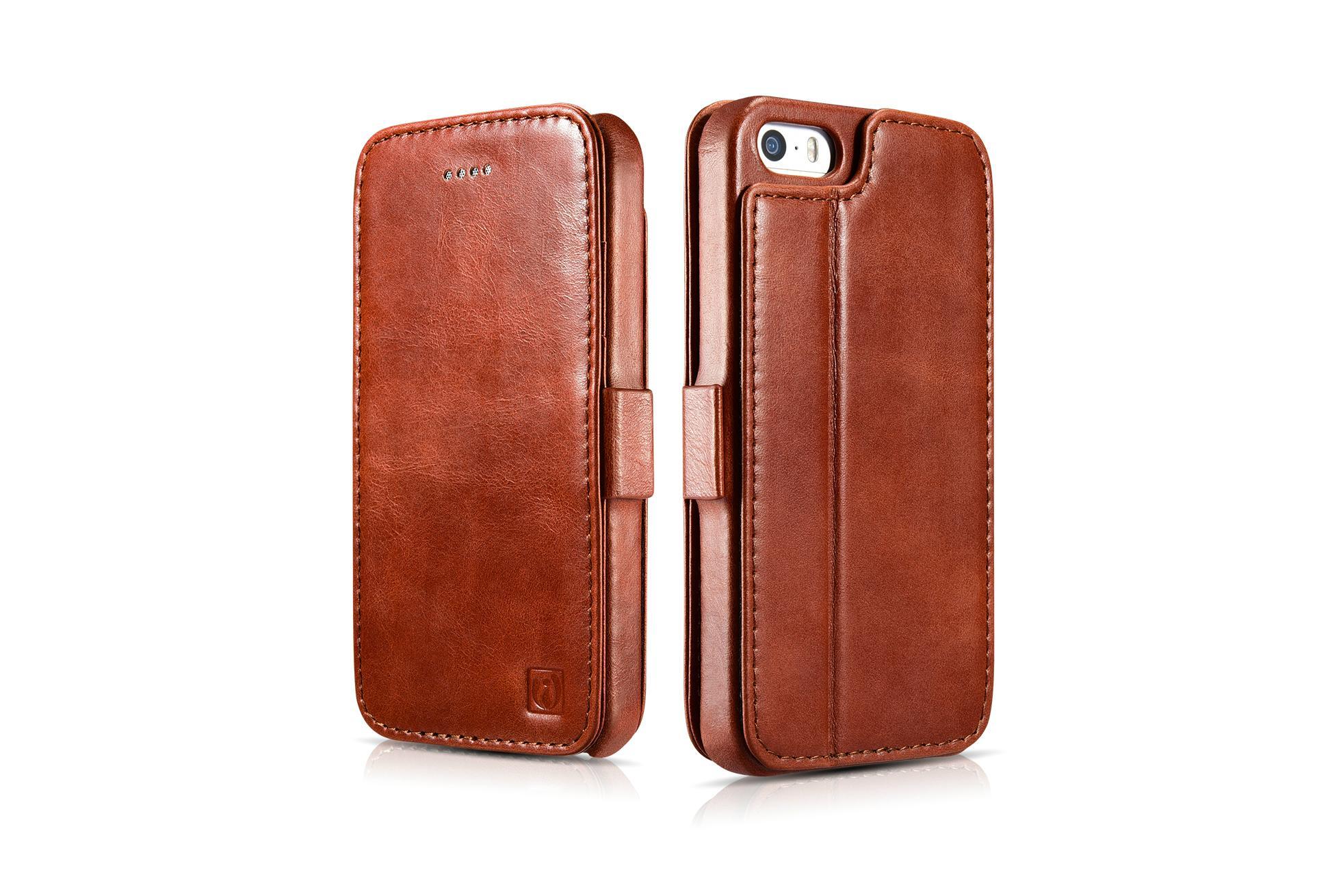 2017 iCarer iPhone SE/5S/5 Vintage Wallet Case with Two Credit Cards Slot Design 4