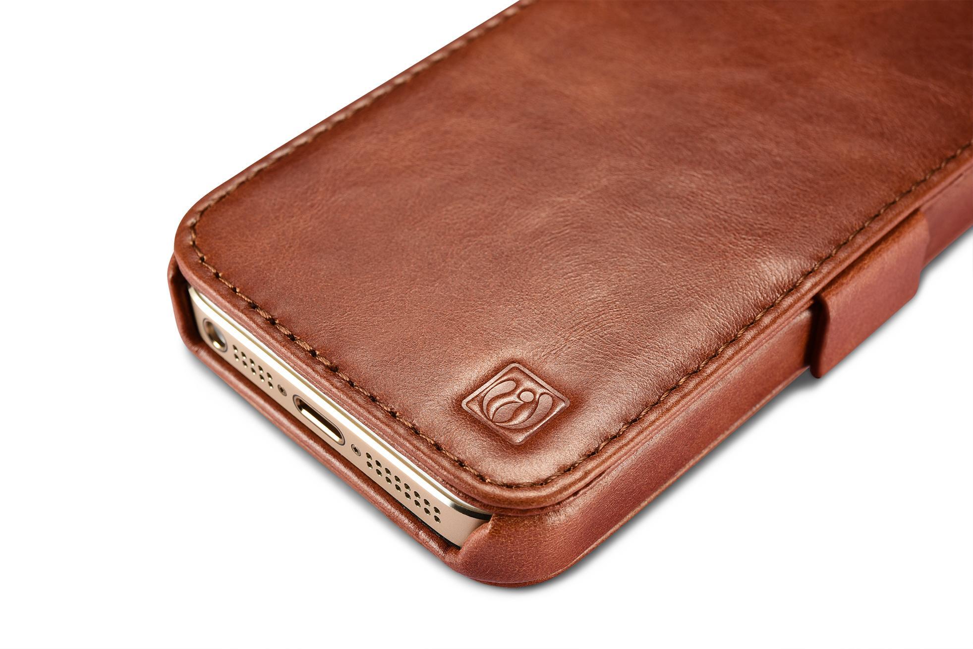 2017 iCarer iPhone SE/5S/5 Vintage Wallet Case with Two Credit Cards Slot Design 13