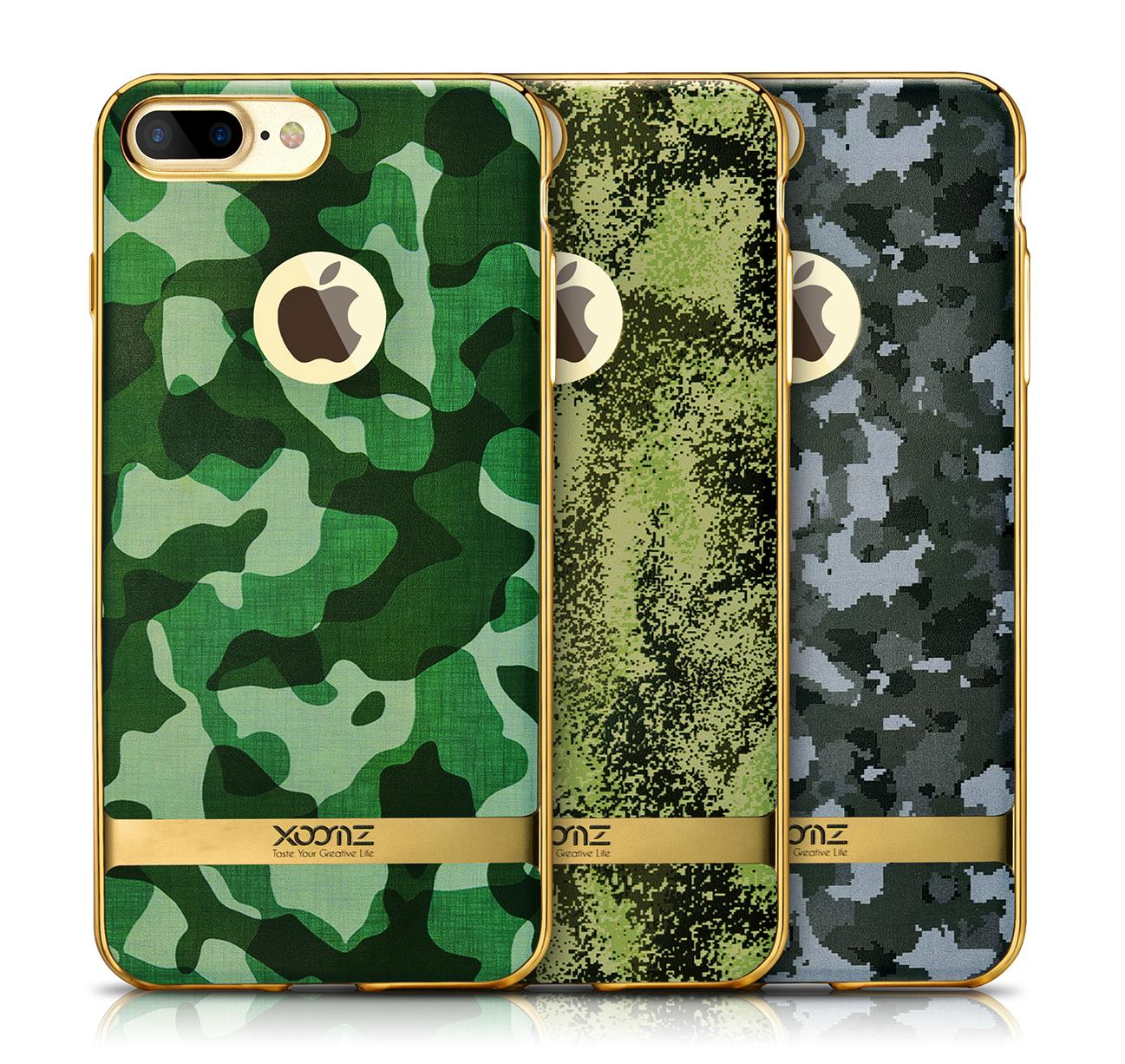 Xoomz iPhone 7 Plus Camouflage Pattern 3D Electroplating TPU Back Case 1