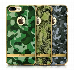 Xoomz iPhone 7 Plus Camouflage Pattern 3D Electroplating TPU Back Case