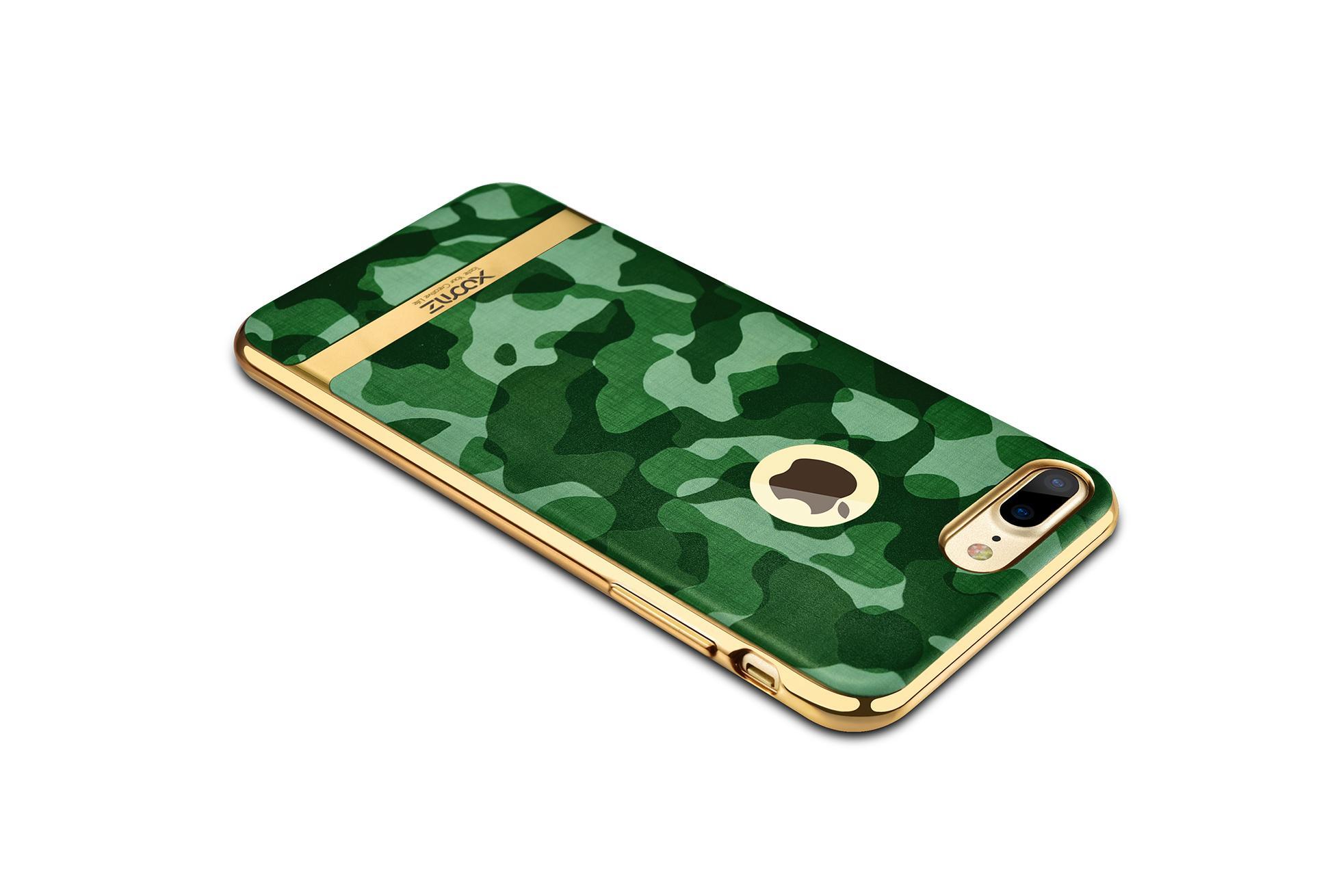 Xoomz iPhone 7 Plus Camouflage Pattern 3D Electroplating TPU Back Case 10