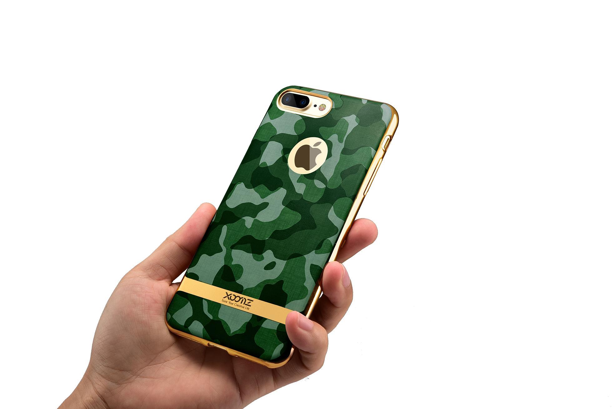 Xoomz iPhone 7 Plus Camouflage Pattern 3D Electroplating TPU Back Case 13