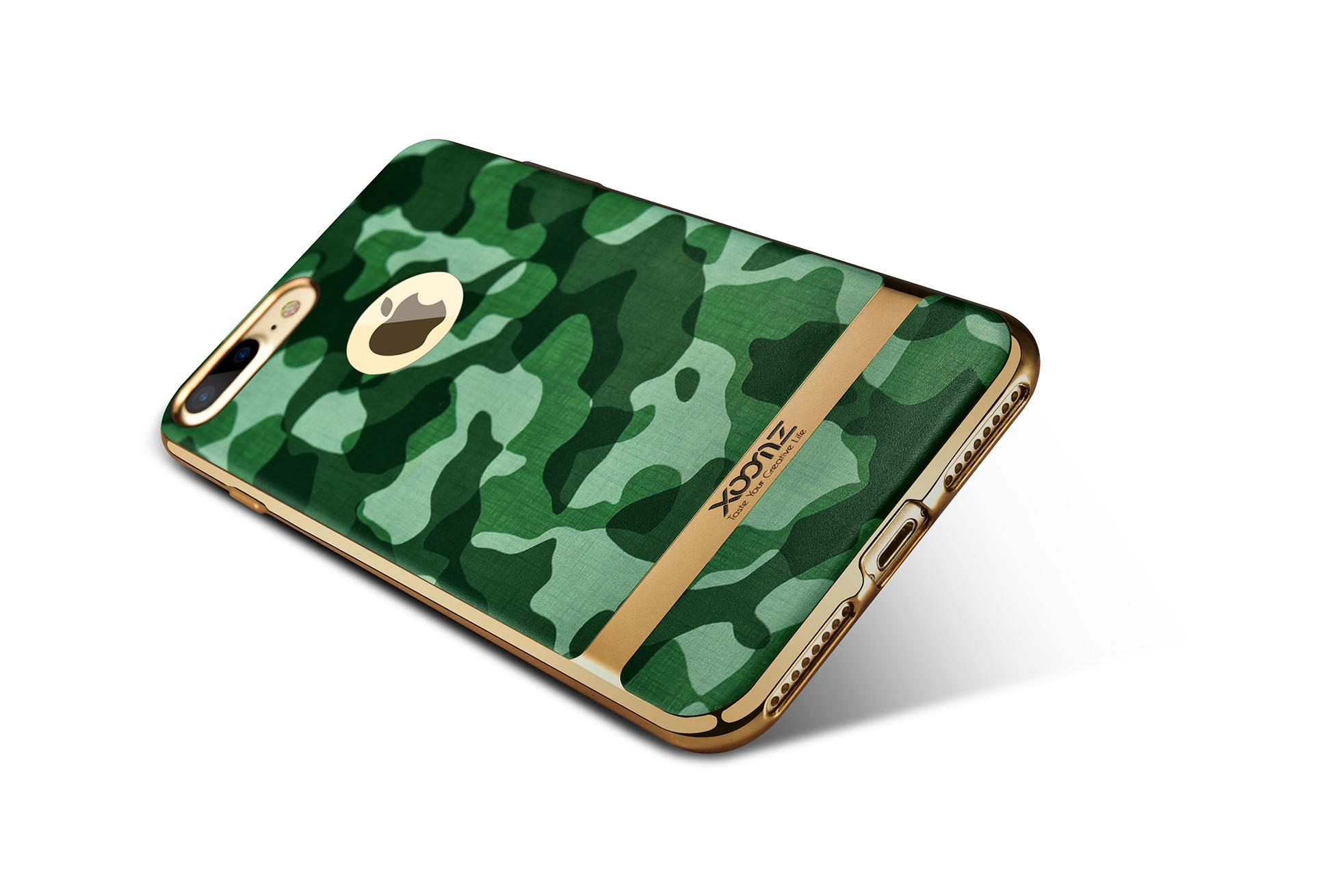 Xoomz iPhone 7 Plus Camouflage Pattern 3D Electroplating TPU Back Case 16