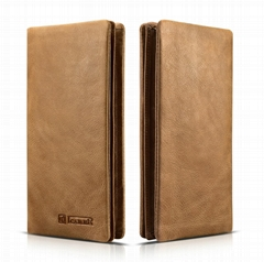 iCarer Shenzhou Real Leather Bifold Long Wallet