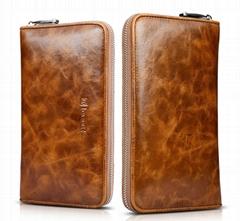 iCarer Real Leather Passport Wallet