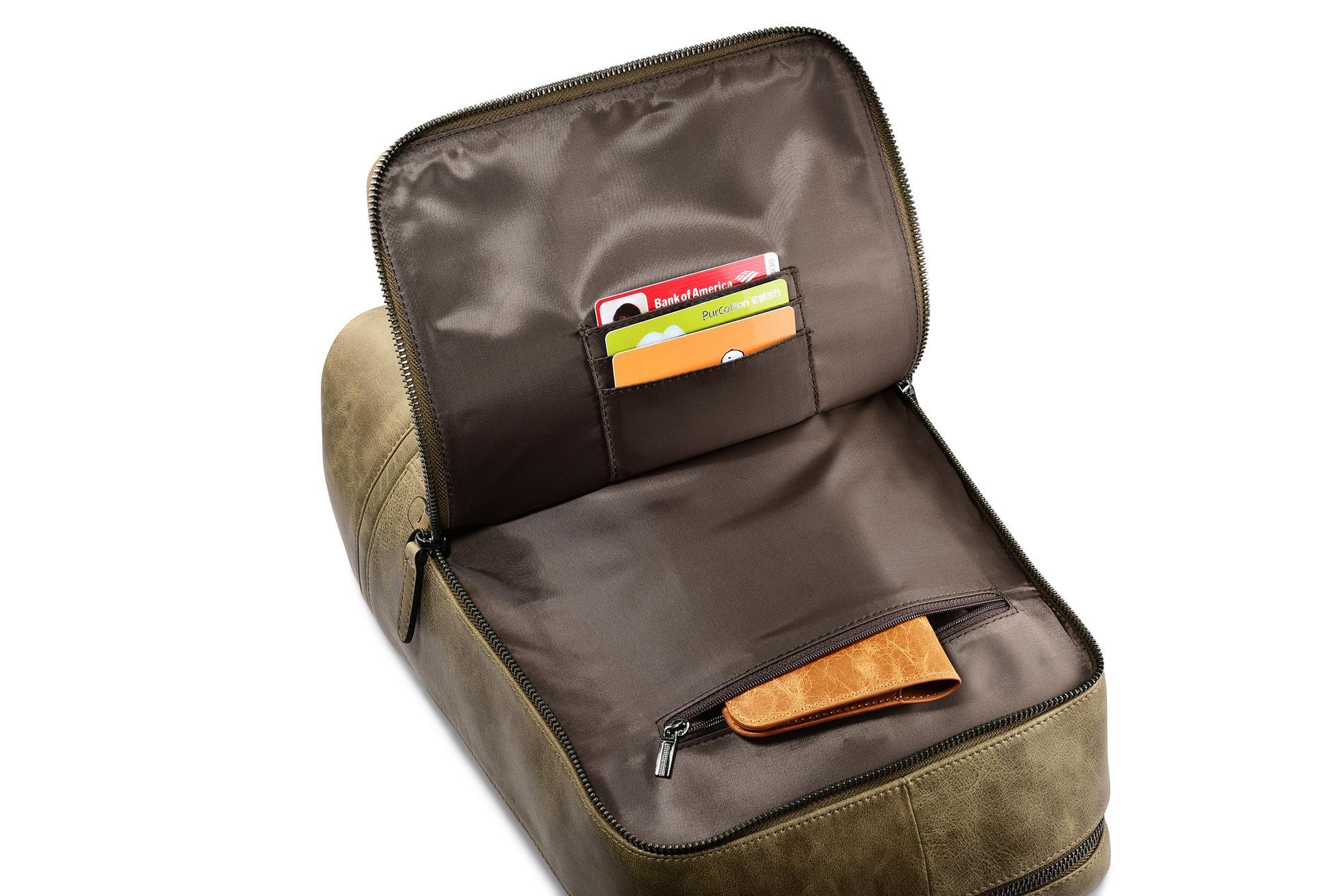 iCarer Shenzhou Real Leather Backpack 9