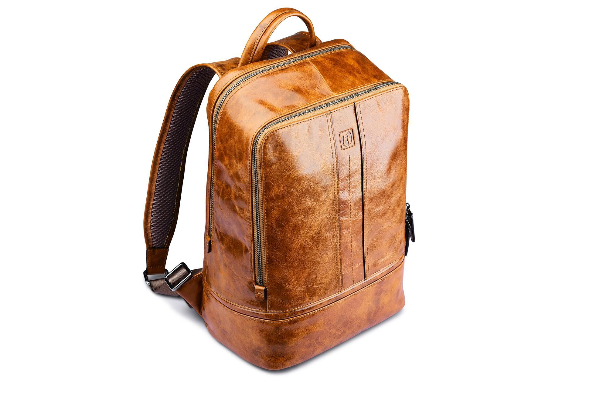 iCarer Vintage Oil Wax Real Leather Backpack 6