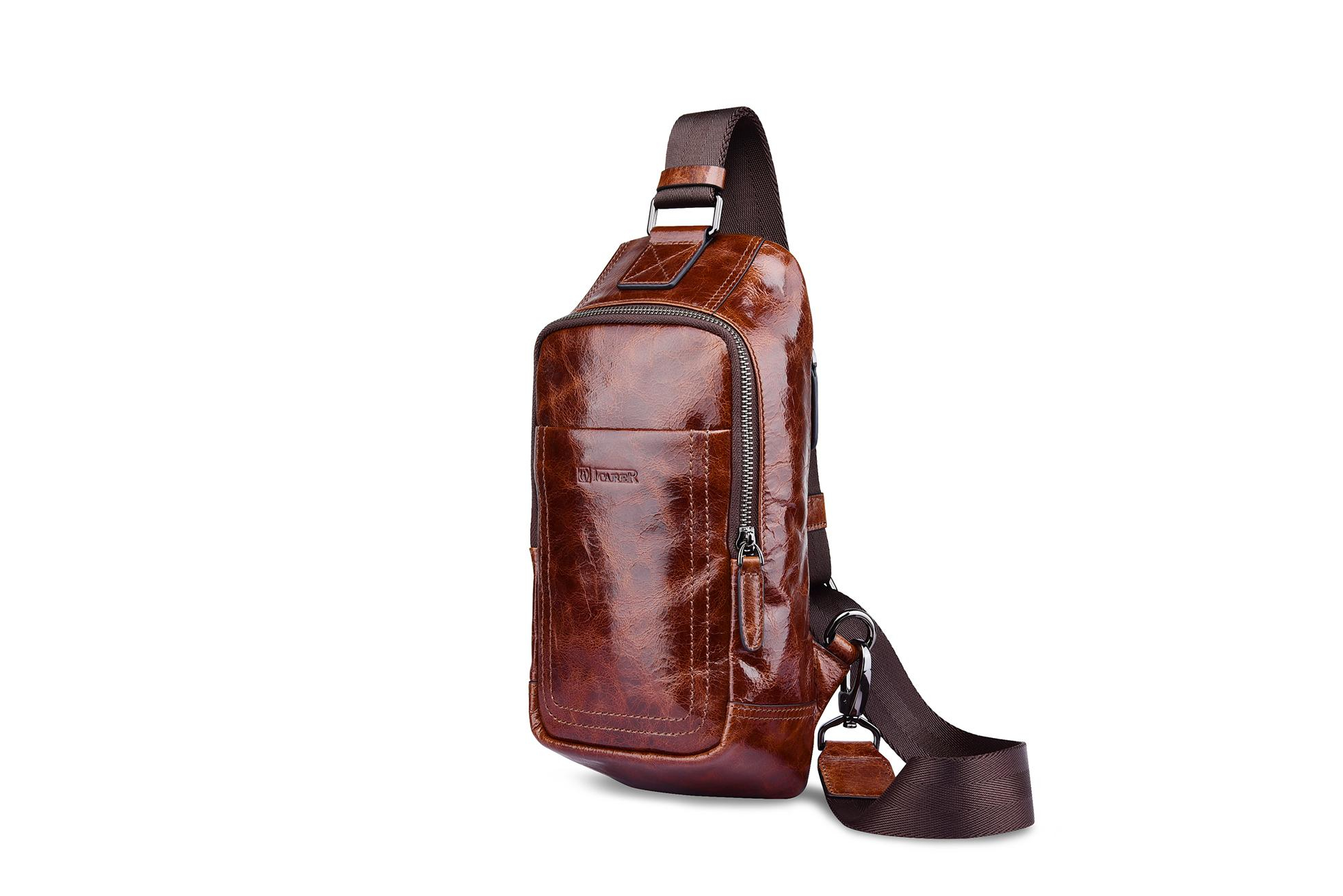 iCarer Vintage Oil Wax Real Leather Cross Body Bag 7