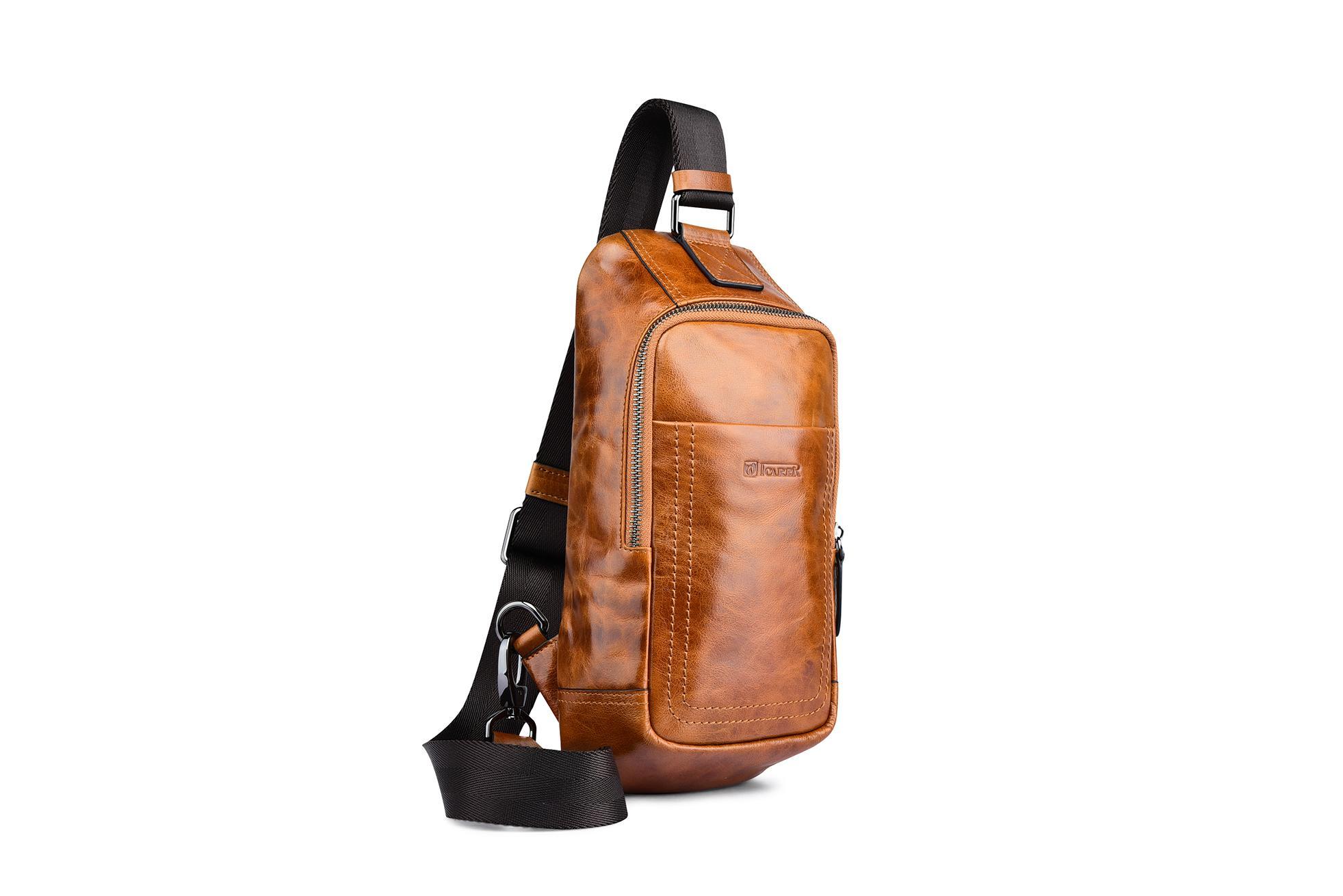 iCarer Vintage Oil Wax Real Leather Cross Body Bag 6