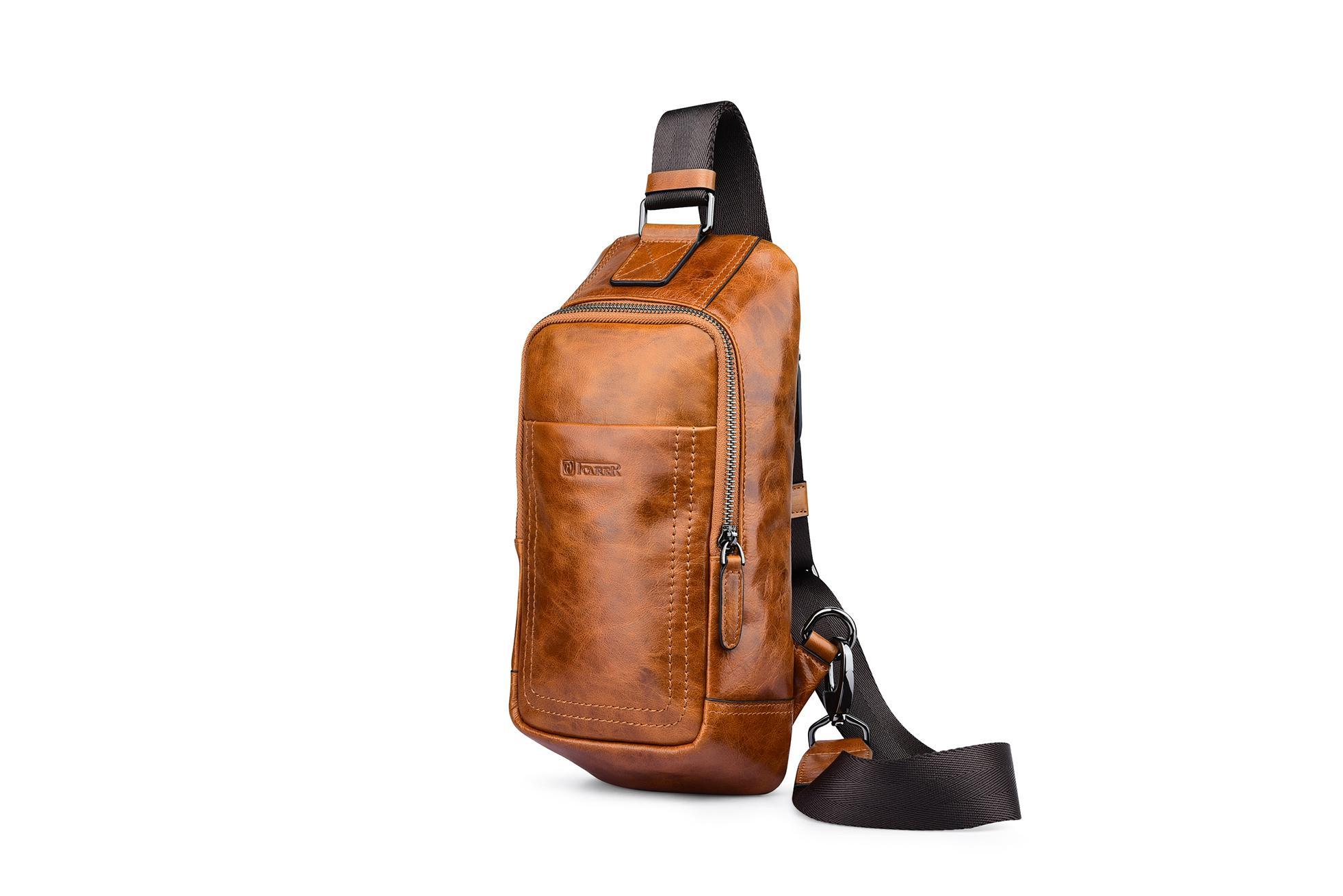 iCarer Vintage Oil Wax Real Leather Cross Body Bag 4