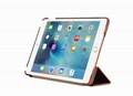 iCarer iPad Mini 4 Case folding Vintage Series Genuine Leather Stand Case Cover 12