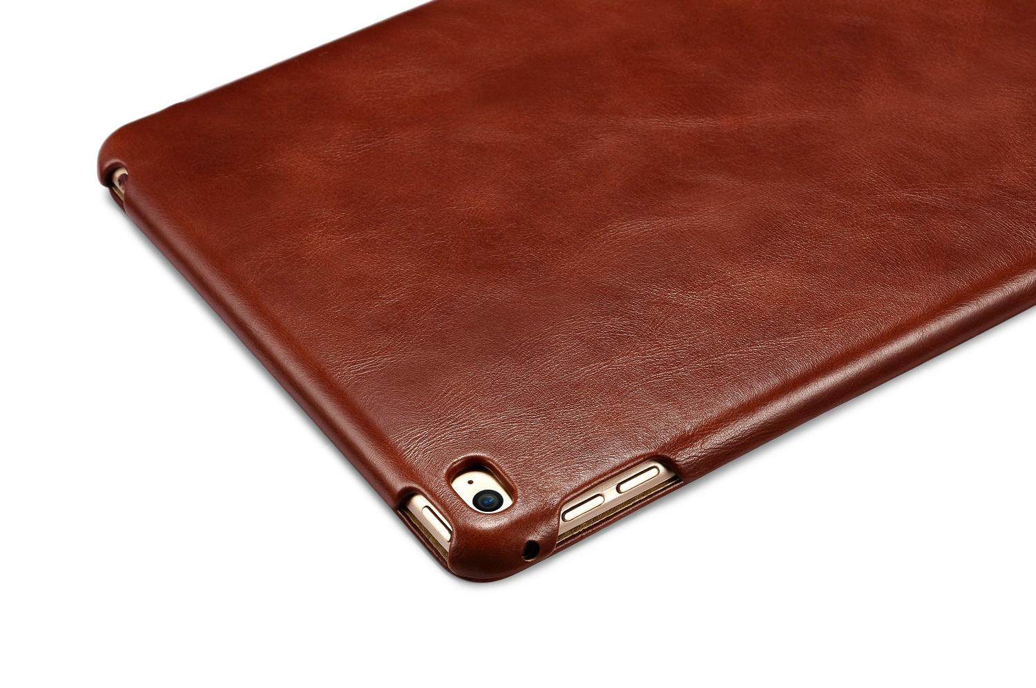 iCarer iPad Mini 4 Case folding Vintage Series Genuine Leather Stand Case Cover 13