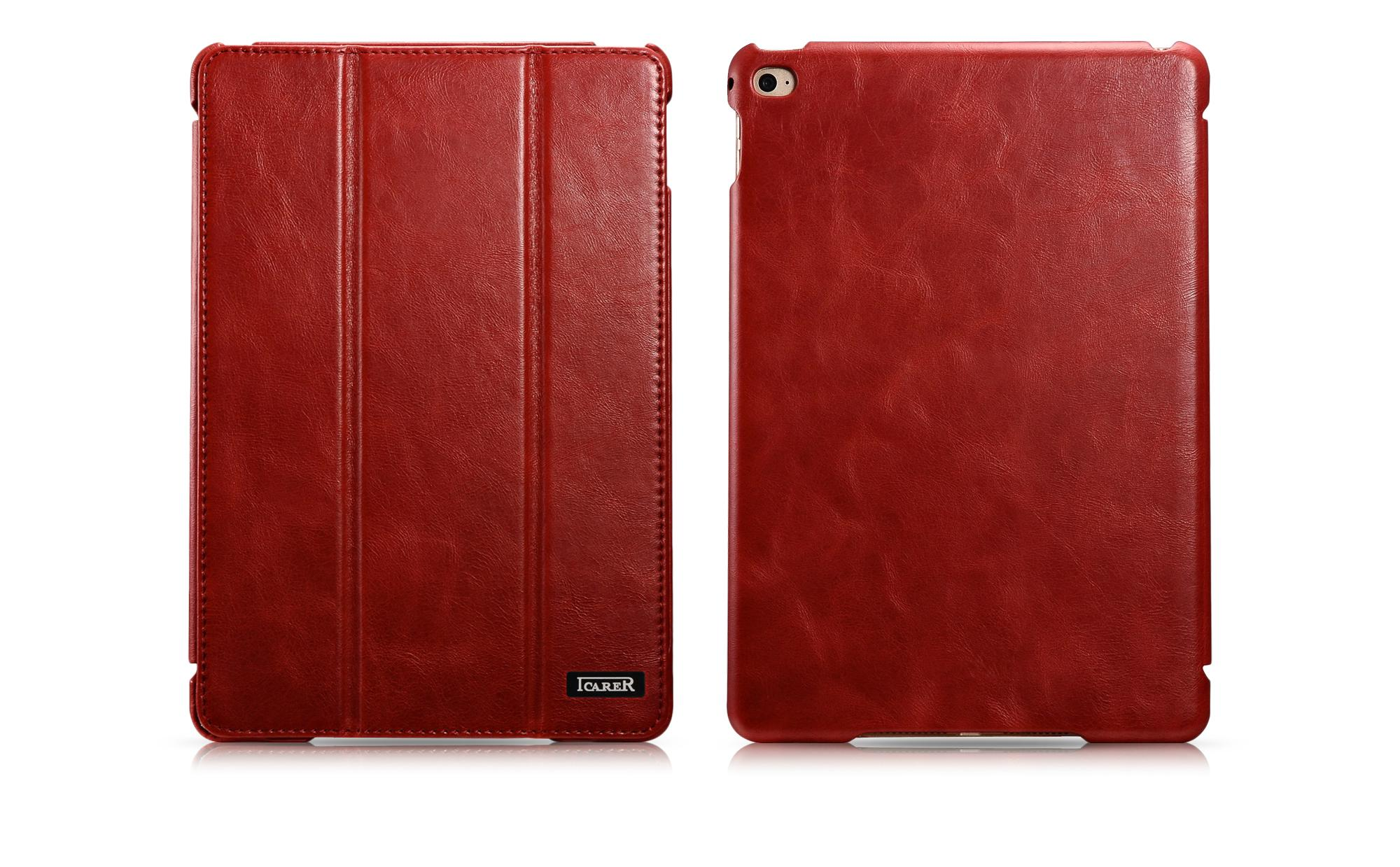 iCarer iPad Mini 4 Case folding Vintage Series Genuine Leather Stand Case Cover 2