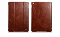 iCarer iPad Mini 4 Case folding Vintage Series Genuine Leather Stand Case Cover 3
