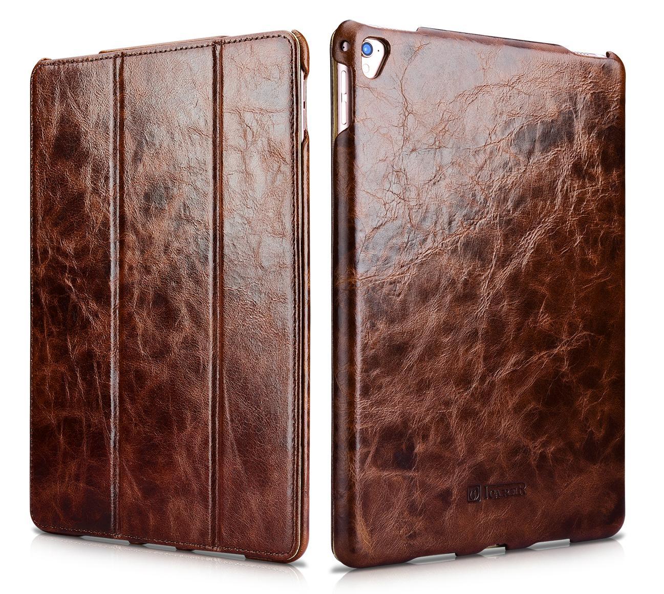 iCarer iPad Pro 9.7 inch Oil Wax Vintage Genuine Leather Folio Case 1
