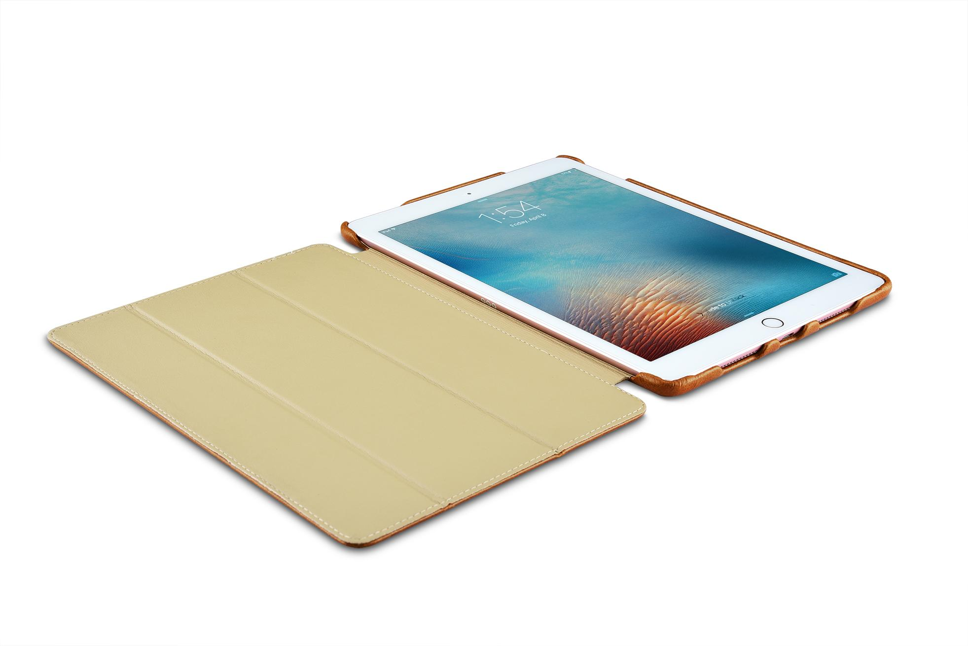 iCarer iPad Pro 9.7 inch Oil Wax Vintage Genuine Leather Folio Case 11