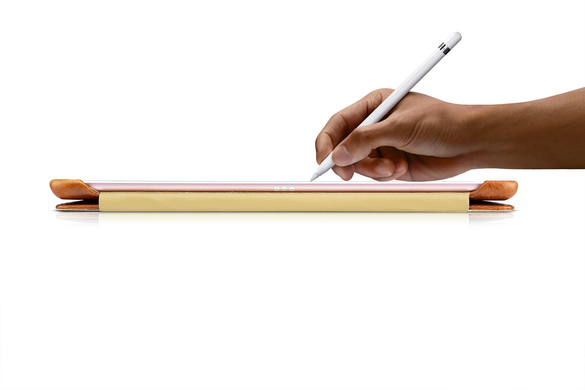 iCarer iPad Pro 9.7 inch Oil Wax Vintage Genuine Leather Folio Case 15