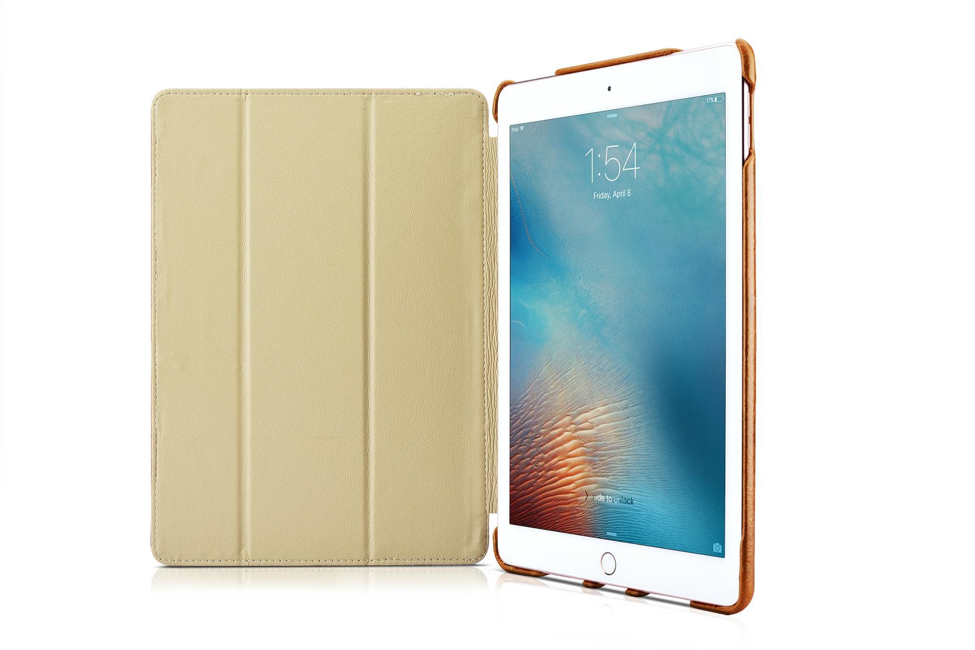 iCarer iPad Pro 9.7 inch Oil Wax Vintage Genuine Leather Folio Case 10