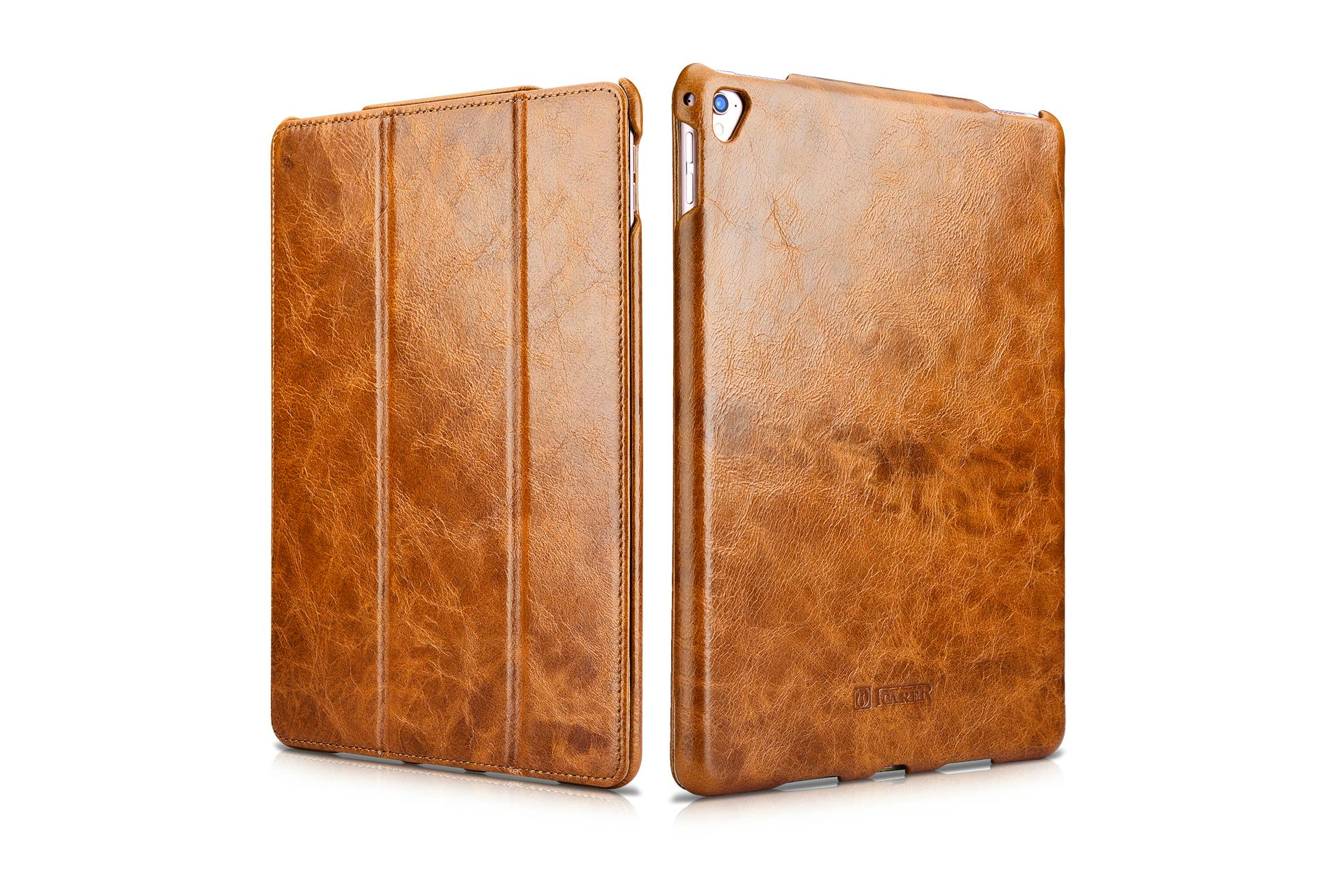 iCarer iPad Pro 9.7 inch Oil Wax Vintage Genuine Leather Folio Case 2