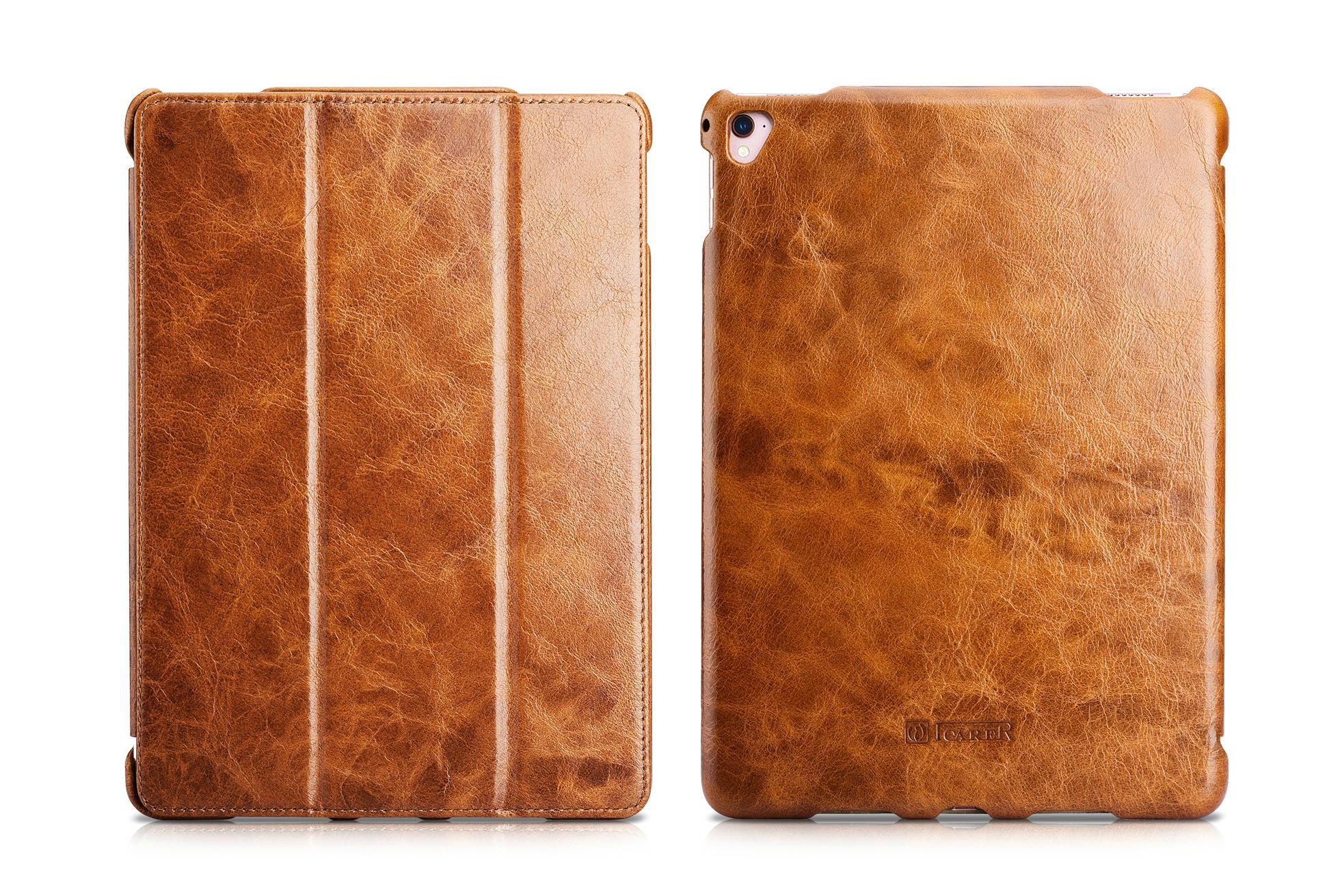 iCarer iPad Pro 9.7 inch Oil Wax Vintage Genuine Leather Folio Case 3