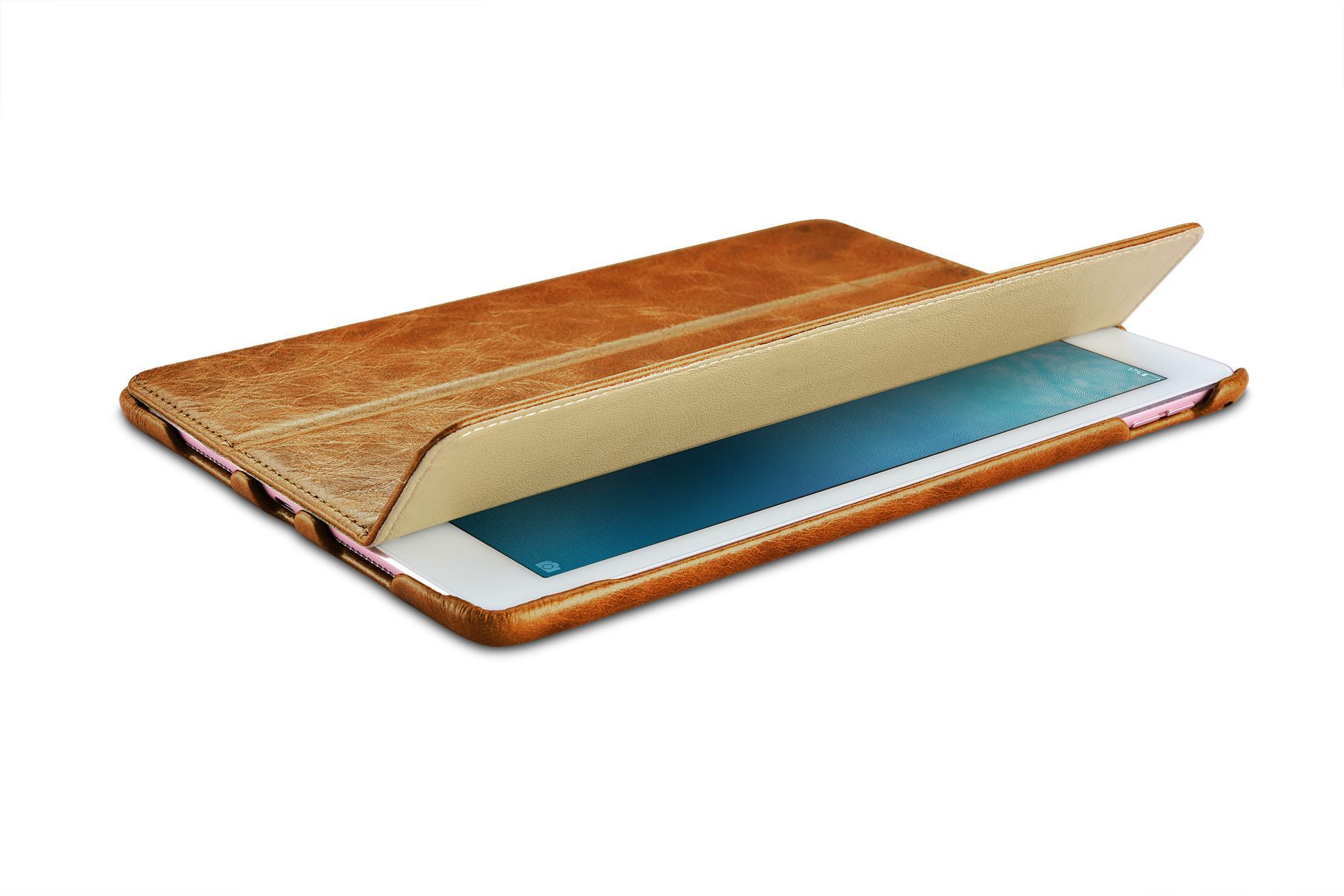 iCarer iPad Pro 9.7 inch Oil Wax Vintage Genuine Leather Folio Case 6