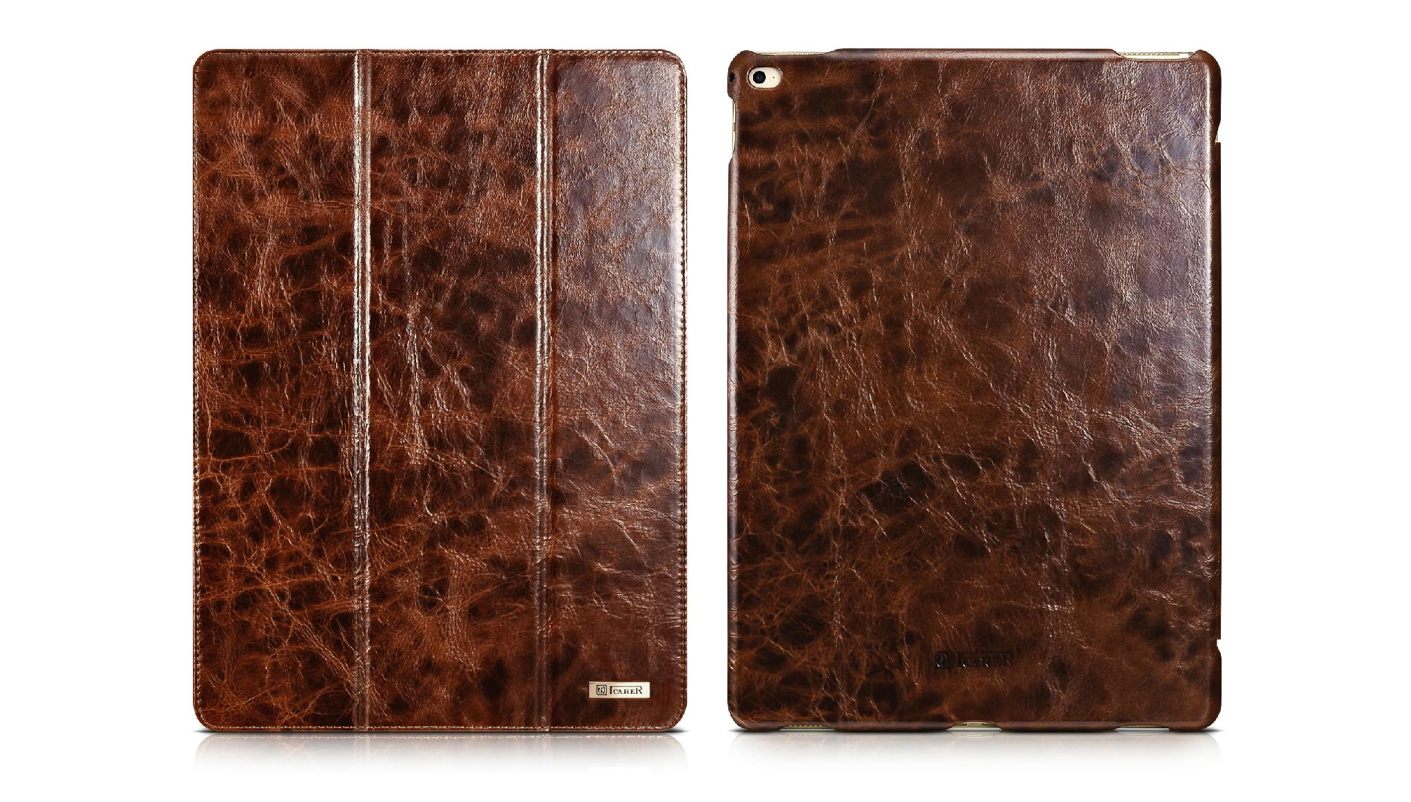 iCarer iPad Pro 12.9 inch Oil Wax Vintage Genuine Leather Folio Case 4