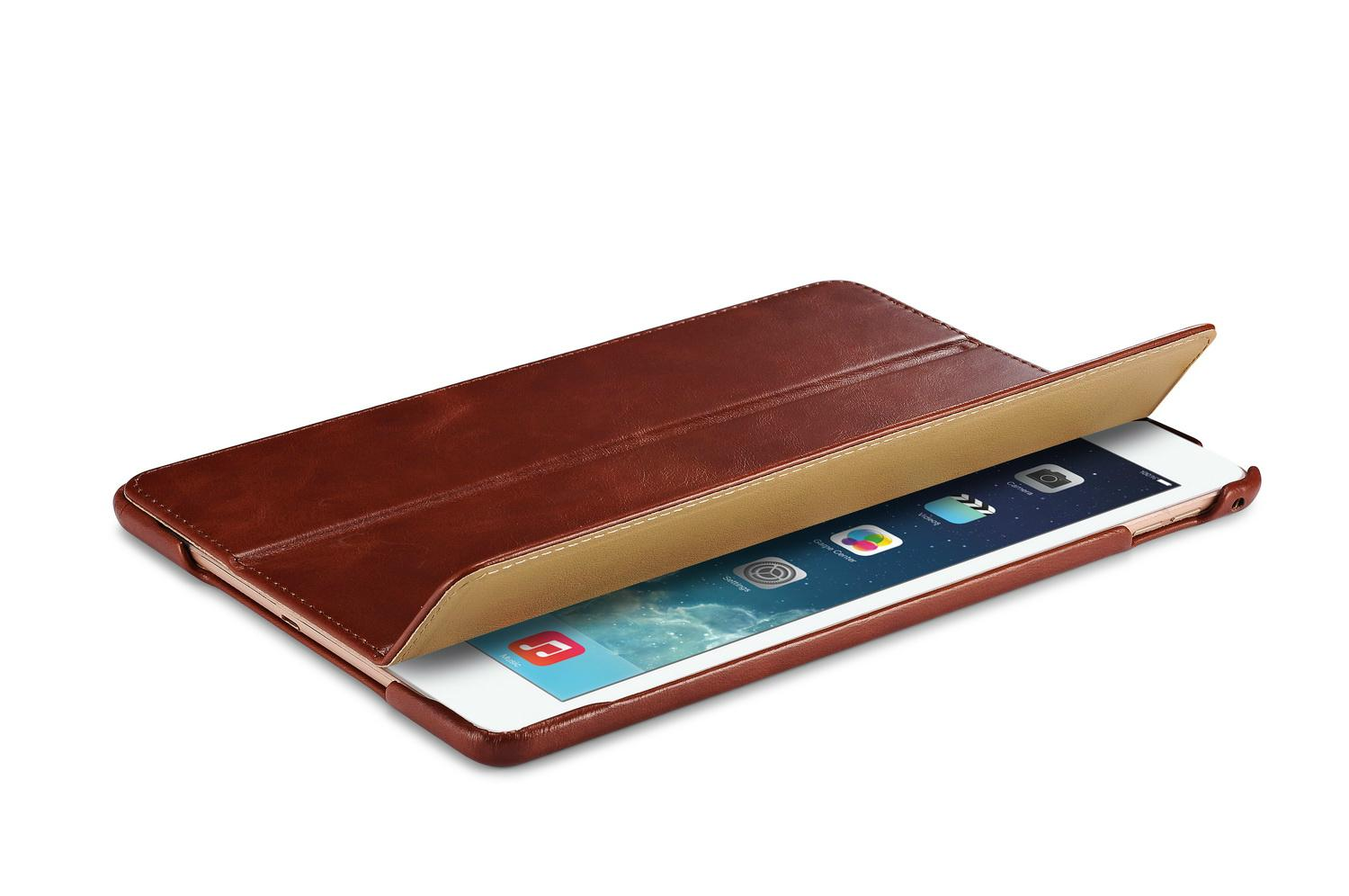 iCarer iPad Air 2/ iPad 6 Vintage Series Genuine Leather Stand Case Cover 6