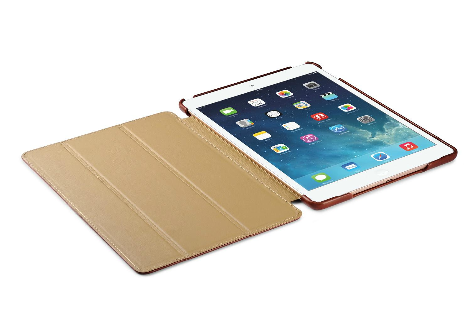 iCarer iPad Air 2/ iPad 6 Vintage Series Genuine Leather Stand Case Cover 9