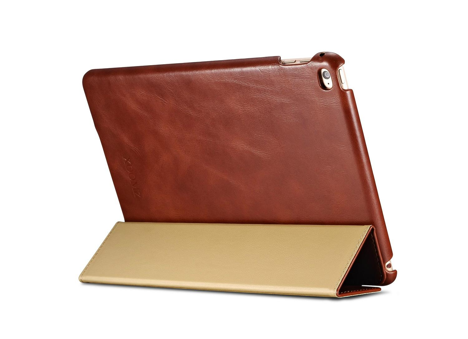 iCarer iPad Air 2/ iPad 6 Vintage Series Genuine Leather Stand Case Cover 12