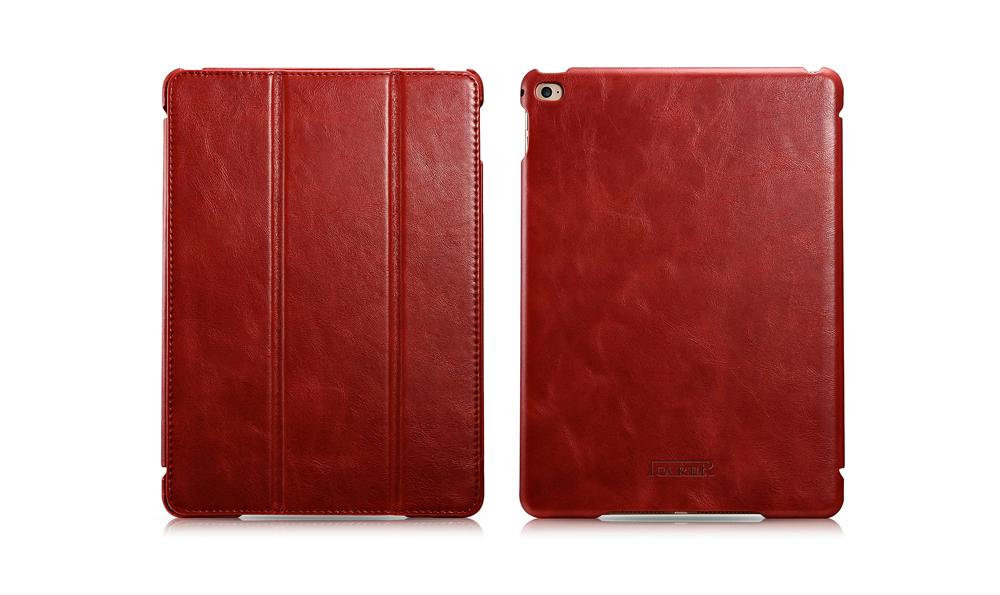 iCarer iPad Air 2/ iPad 6 Vintage Series Genuine Leather Stand Case Cover 4